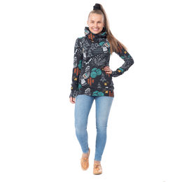 HELLÄhoodie (Sielulintu black/turquoise/multicolor 2 stretch college)