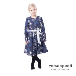 FIFTARIdress (Elämänpuu navy) digitricot