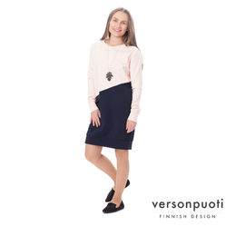 LIPPAtunic (light pink/dark blue stretch college)