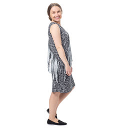 BEACHdress (Silmut black/white tricot)