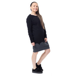 PIPARKAKKUtunic raglansleeve (black/grey stretch college)