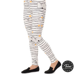 MUKAVAleggings women (Fanttijemma white/grey tricot)
