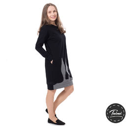 "COLLEGEtunic ""bunny"" (black/grey stretch college)"