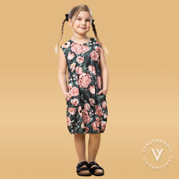 HEMMAhelledress kids (Kukkaiskylpy grey/rose tricot)