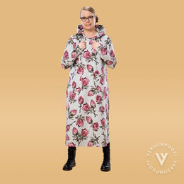 SLOWdress (Protea grey/pink stretch college)