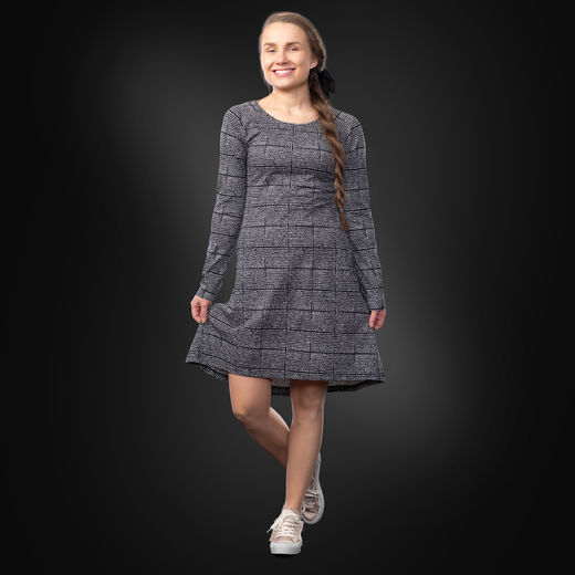 ANNAdress (Helmenkalastaja black/white tricot)