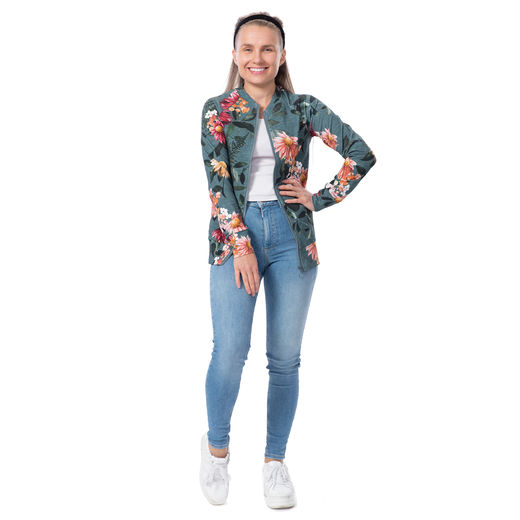 BOMBERjacket womens (Punahattu petrol stretch college)
