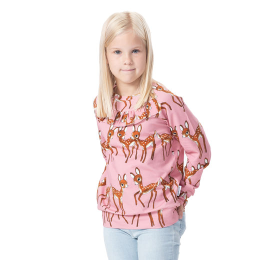 FRILLAshirt (Bambit rose stretch college)