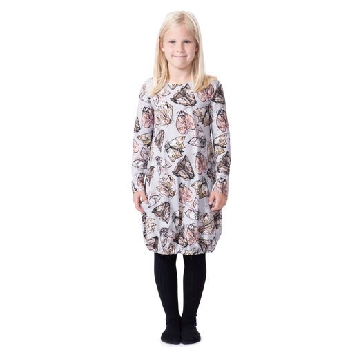 HEMMAdress kids (Pimeän tullen grey/powder tricot)