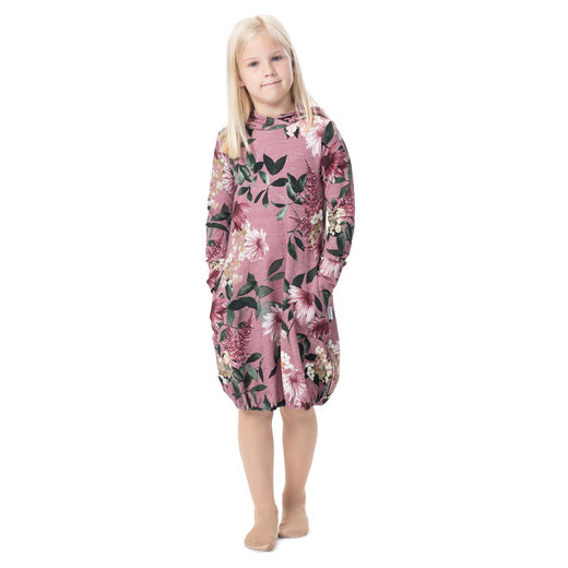 JEMMAdress girls (Punahattu dusty rose stretch college)