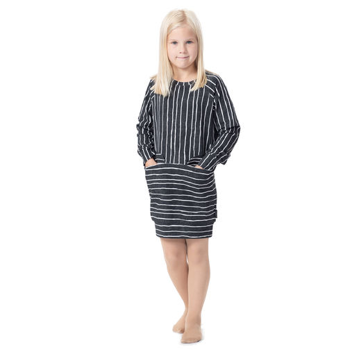 LIPPAtunic girls (Jemmaraita black/white stretch college)