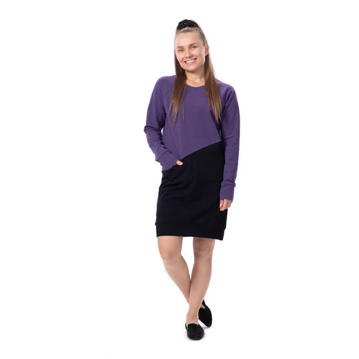 LIPPAtunic (lilac/black stretch college)
