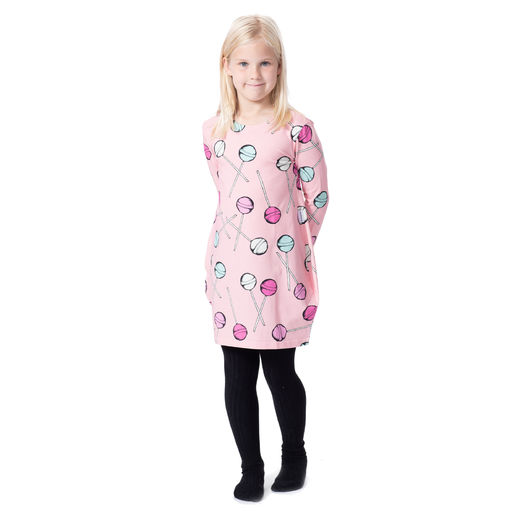 MAATUSKAdress girls (Tikkarit pink tricot)