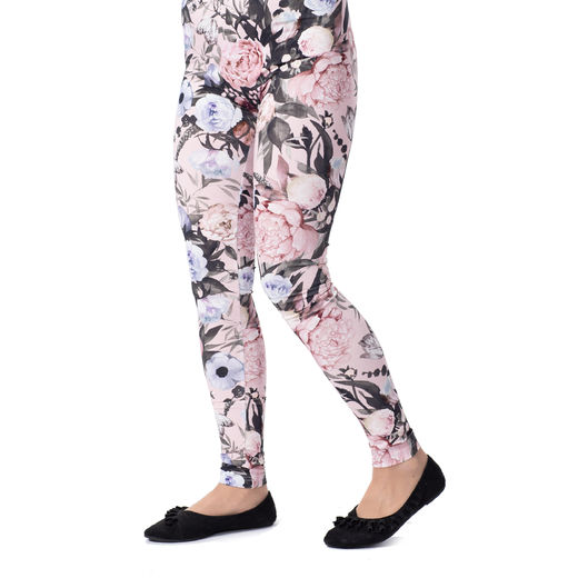 MUKAVAleggings women (Kukkaiskylpy lightpink tricot)
