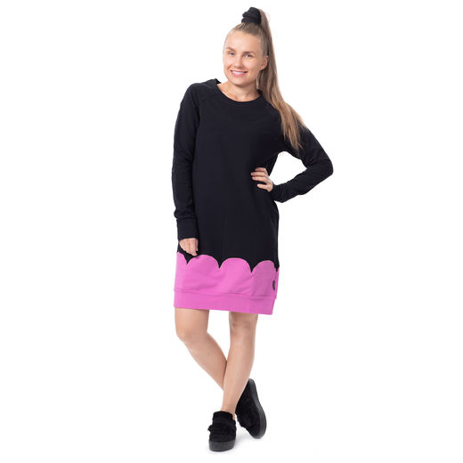PIPARKAKKUtunic raglansleeve (black/dusty pink stretch college)