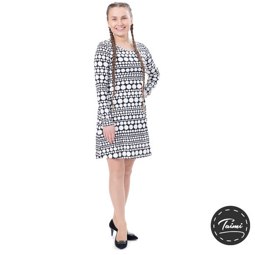AALTOdress (Helmihetki black/white tricot)