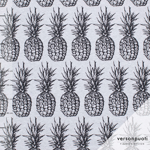 Ananas (grey melange) digiprint tricot