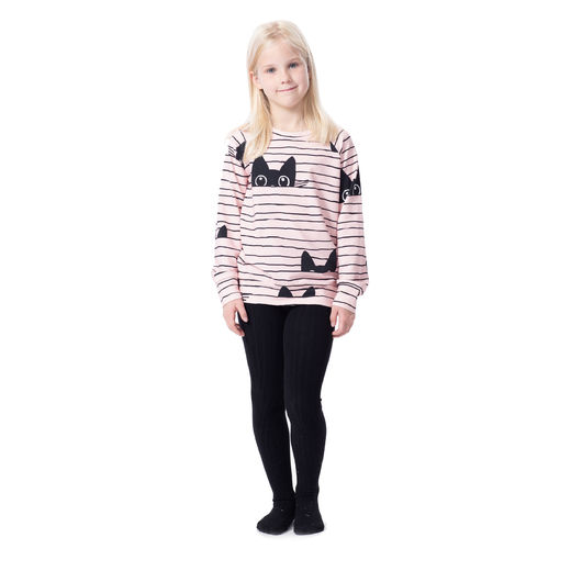 COLLEGEshirt (Kattijemma light pink/black stretch college)