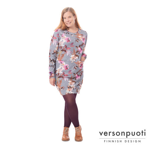 COLLEGEtunic (Punahattu grey/pink college)