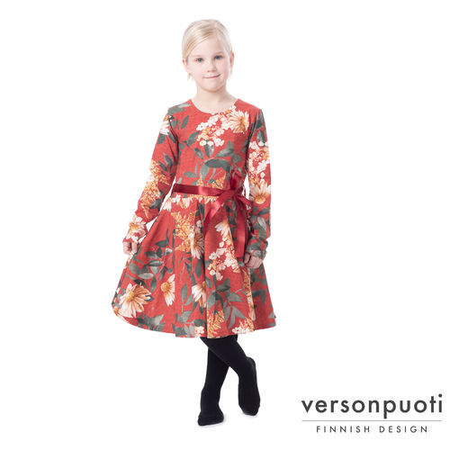 FIFTARIdress (Punahattu red) digitricot