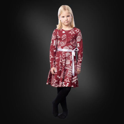 FIFTARIdress (Sielulintu burgundy tricot)
