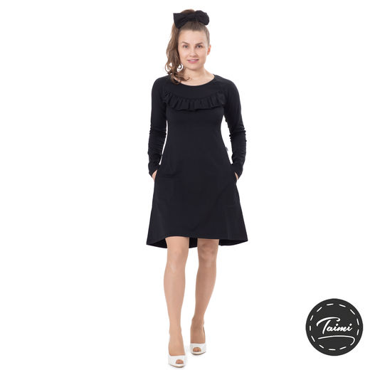 FRILLAdress (black tricot)