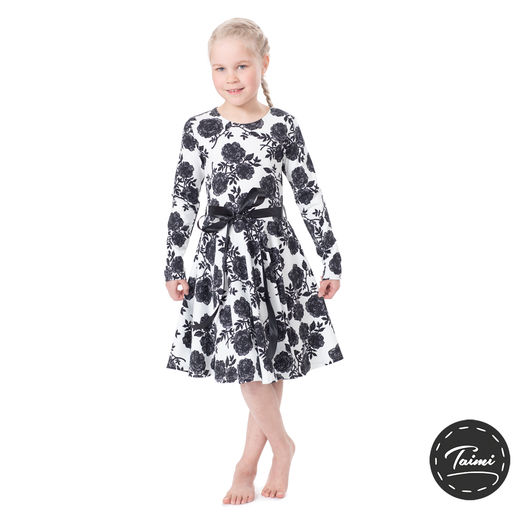 FIFTARIdress (Ruusut black/white tricot)