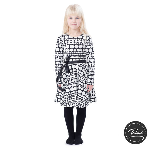FIFTARIdress (Helmihetki black/white tricot)