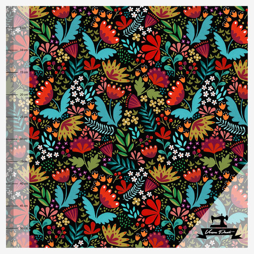 Folklore (black/multicolor) digitricot