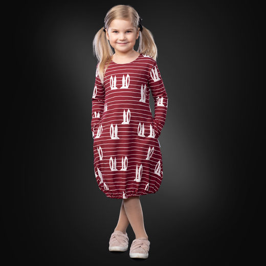 HEMMAdress kids (Pupujemma burgundy tricot)