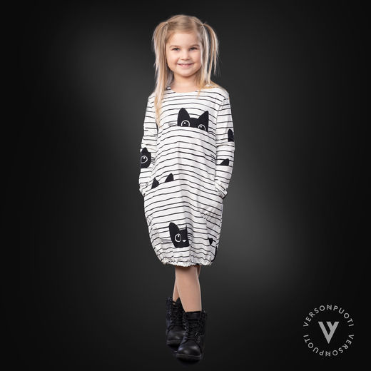 HEMMAdress kids (Kattijemma white/black tricot)