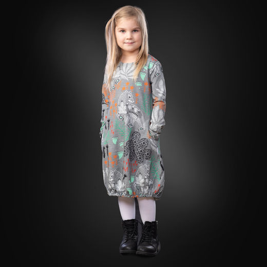 HEMMAdress kids (Korven kuningas grey/mint tricot)