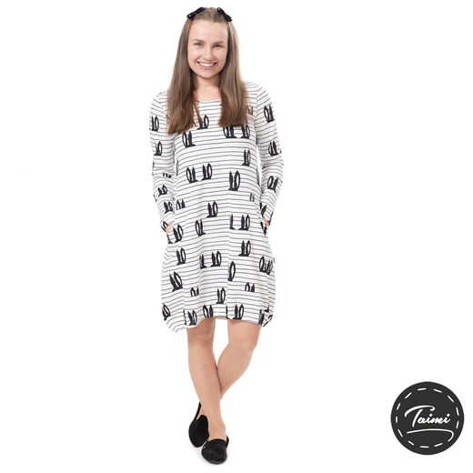 HEMMAdress (Pupujemma white/black tricot)