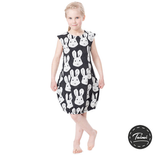 HEMMAhelledress kids (Puput black/white tricot)
