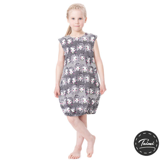 HEMMAhelledress kids (Tyttökerho black/white tricot)