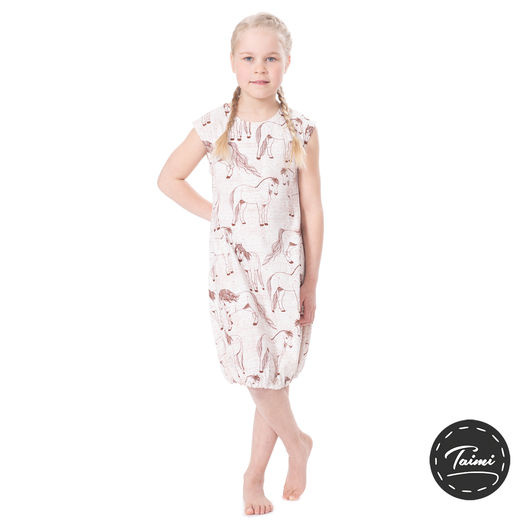 HEMMAhelledress kids (Suomenhevonen brown tricot)