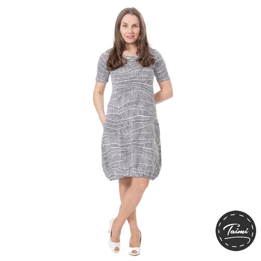 HEMMAdress womens SS (Erämaa white/black tricot)