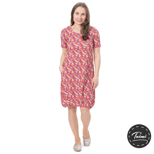 HEMMAdress womens SS (Punahattu red tricot)