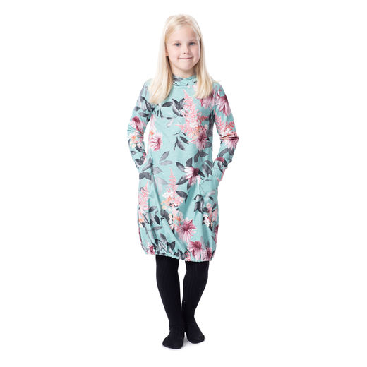 JEMMAdress girls (Punahattu aqua/soft pink tricot)
