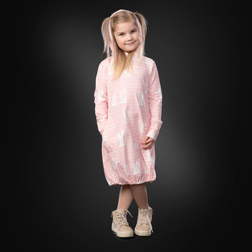 JEMMAdress girls (Pupujemma light pink/white tricot)