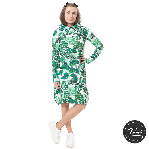 JEMMAdress (Viidakko green/white tricot)