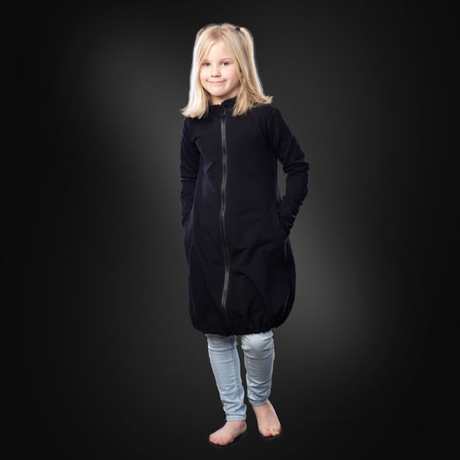 JEMMAjacket kids (black stretch college)