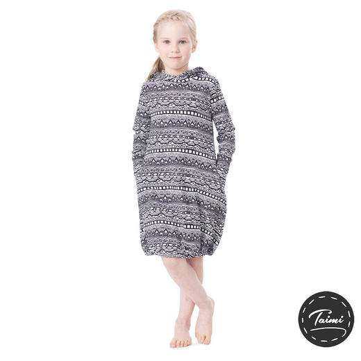JEMMAdress girls (Kaino black/white tricot)