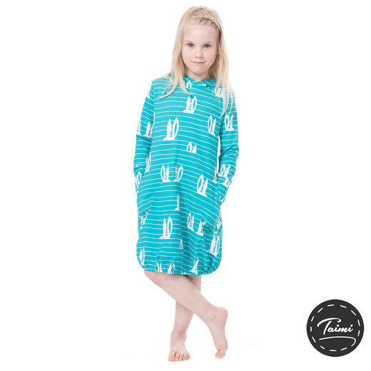 JEMMAdress girls (Pupujemma turquoise tricot)
