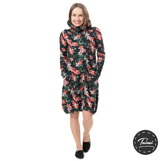 JEMMAdress (Punahattu black/red tricot)