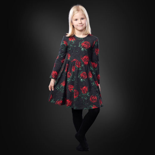 KISSANKELLOdress  (Protea red/black tricot)