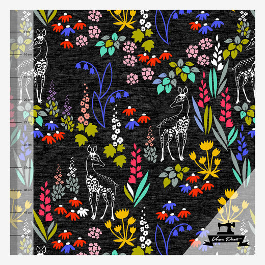 Kauris (black/multicolor) digitricot