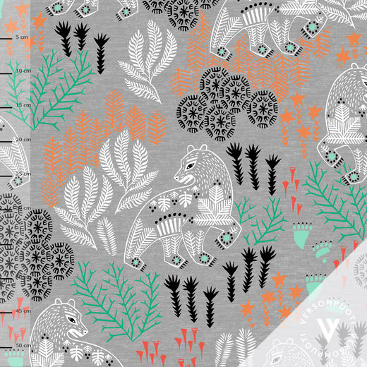 Korven kuningas (grey/mint) digiprint stretch college