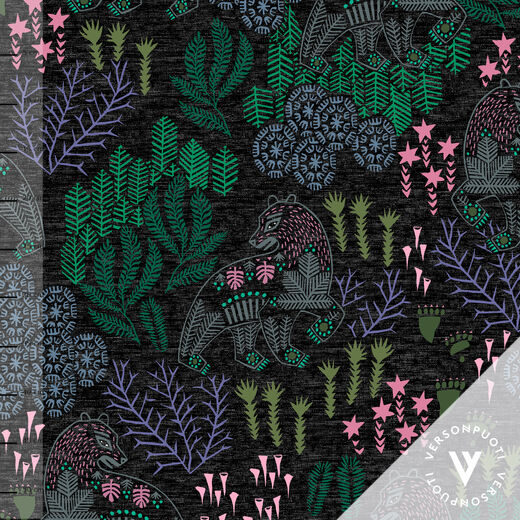 Korven kuningas (black/pink/green) stretch college