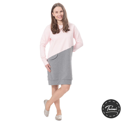 LIPPAtunic (light pink/melange grey stretch college)